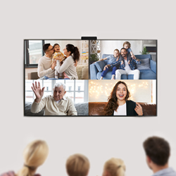Secure video calling on your TV that puts your privacy first. The Onscreen Spark also has Zoom integration, so that you can chat with your loved ones at home using your largest screen, your TV.