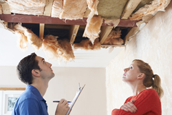 Public Adjuster looking at a Roof Damage - ProFloridian