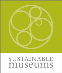 "Green Logo with name ""Sustainable Museums"""
