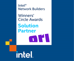 The Intel® and Ori logos, alongside the words Solution Partner.