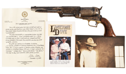 Robert Duvall's Lonesome Dove gun featured in Burley Auction of Historic Texana December 12