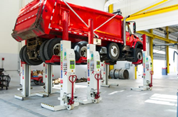 Stertil-Koni Heavy Duty Mobile Column Lifts in Action