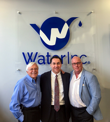 From left to right: Major Avignon (Chairman/CEO, Water, Inc.), Tony Lucio (Western Regional Sales Director, SMEG) and Chris Arnold (Vice President of Sales, Water, Inc.).