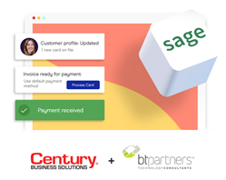 Century Business Solutions and BT Partners partner to bring integrated credit card processing directly into Sage Intacct.