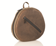 AirPods Max Shield Case — waxed canvas and full-grain chocolate leather