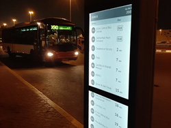 Papercast® e-paper displays help with public transport use in Abu Dhabi