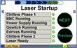 An HMI (human machine interface) screen for the Procudo® Laser Peening System provides operators an orderly checklist.