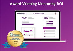 MentorcliQ wins Gold Brandon Hall Award for new ROI Dashboard