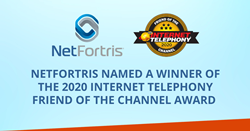 NetFortris Named a Winner of the 2020 INTERNET TELEPHONY Friend of the Channel Award