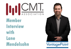 Lane Mendelsohn, President of Vantagepoint AI, LLC, featured in CMT's magazine, Technically Speaking.