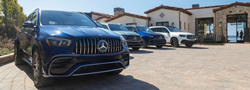 2021 Mercedes-Benz GLS SUVs in a row in parking lot