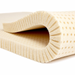 100% natural latex foam is the best type of comfort layer material for a heavy person's mattress.