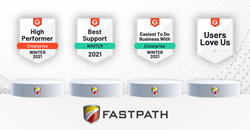 Fastpath earns G2 Crowd badges for Winter 2021