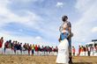 Amboseli women receive food