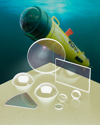 Suitable for use in autonomous underwater vehicles, probes, and sensors, sapphire optics' smooth flat surfaces help to prevent algae growth.