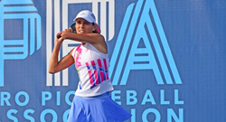 Simone Jardim, the #1 ranked female player in the Professional Pickleball Association Standings.