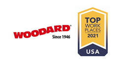 Woodard 2021 Top Workplaces Award
