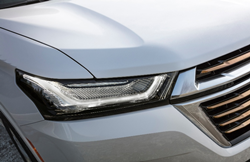 2021 Chevrolet Traverse close up of the headlight