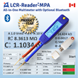 LCR-Reader-MPA Bluetooth with remote measurement recording and component assessment
