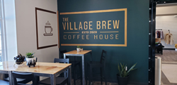 Interior of The Village Brew Coffee House in Piketon, Ohio