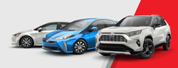 Toyota Hybrid models lined up