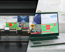A control room and remote worker seamlessly collaborate with the same visual information.