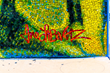 Detail of artist, Anne Labovitz's mosaic signature