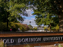 A photo of Old Dominion University's Norfolk, Virginia Campus sign