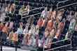 Cardboard cutouts of Nationals fans from the Nationals and Marlins at Nationals Park, August 24, 2020