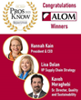 Three ALOM Senior Staff Named Supply & Demand Chain Executive 2021 Supply Chain Pros to Know