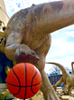 World's largest children's museum and its dinosaurs love basketball and are all geared up for the NCAA Tournament.