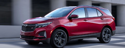2021 Chevrolet Equinox side view on a road