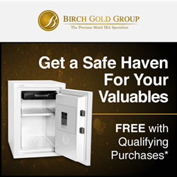 birch gold 10,000 customers free home safe