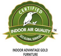 Indoor Advantage™ Gold Certification logo represented by Kingfisher bird, is a visual expression of proven commitment to sustainability through environmental stewardship, responsible resource management, and protection of people and communities.