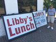 Harry in front of Libby's Lunch