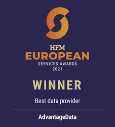 Best Data Provider, HFM European Services Awards 2021