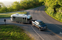 2021 Airstream Flying Cloud pulled by truck