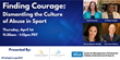 "The Foundation for Global Sports Development and The UCLA Anderson Center for MEMES Host Webinar: ""Finding Courage: Dismantling the Culture of Abuse in Sport"""