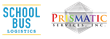 School Bus Logistics and Prismatic Services Logos