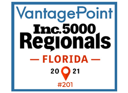 Vantagepoint AI, LLC named to Inc. 5000 Florida Regionals List