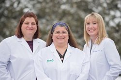 Pictured left to right – Catina Russell-Helton, PA-C; Teresa A. Hanyok, M.D.; Taylor Shoffner, PA-C.