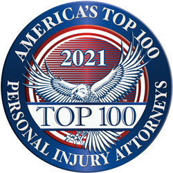 America's Top 100 Personal Injury Attorneys® in 2021 badge