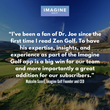 Imagine Golf Founder Malcolm Scovil On Adding Dr. Joe Parent to the App
