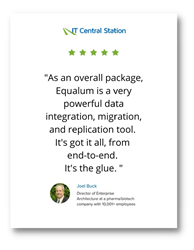 "Joel Buck, Director of Enterprise Architecture - ""I would rate Equalum a 9 out of 10"""