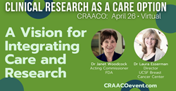A Vision for Integrating Care and Research with Dr Janet Woodcock and Dr Laura Esserman