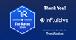 Influitive Earns Two 2021 Top Rated Awards From TrustRadius