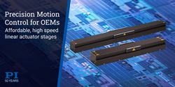 Cost-effective high performance direct-drive stage actuators, V-855 and V-857