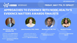 May 7th Webinar: Approaches to Evidence with NODE.Health's Evidence Matters Awards Finalists