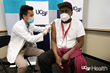 Image of a UCSF medical professional giving a COVID-19 vaccine dose to William Wyatt who was the first frontline health care hero at UCSF to receive a COVID-19 vaccine. Credit: UCSF Health.