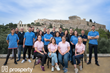 Team Prosperty with Acropolis of Athens